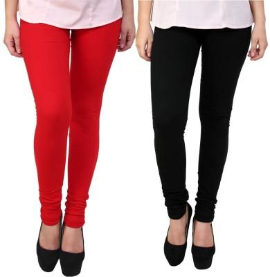 Legemat Girl,s Red, Black Leggings