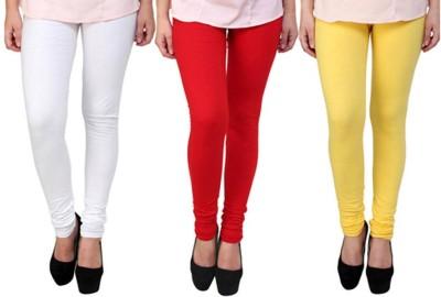 Fashion Zilla Women's White, Red, Yellow Leggings