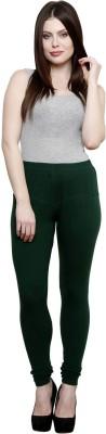Pistaa Women's Dark Green Leggings