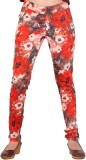 Inddus Women's Red Jeggings