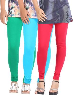 Be-Style Women,s Light Blue, Red, Green Leggings