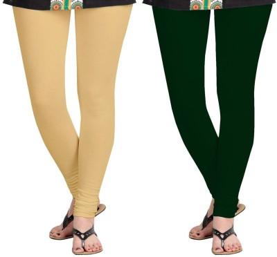AF Sayonara Women's Beige, Dark Green Leggings