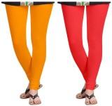 laroyal Women's Yellow, Red Leggings (Pa...