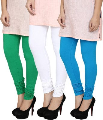 Fizzaro Women's Green, White, Blue Leggings