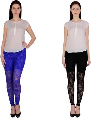Simrit Women's Blue, Black Leggings