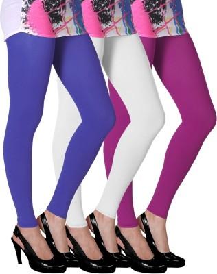 Slassy Women's Blue, White, Pink Leggings