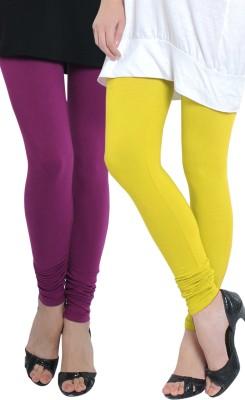Tulsattva Women's Maroon, Yellow Leggings