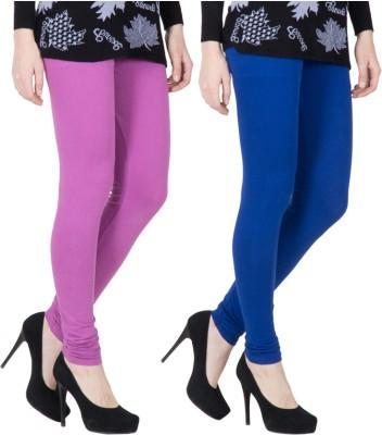 VERMELLO Women's Purple, Dark Blue Leggings