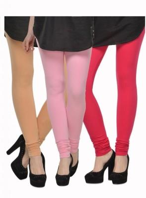 Kjaggs Women's Beige, Pink, Blue Leggings