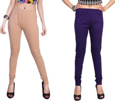Comix Women's Beige, Purple Leggings
