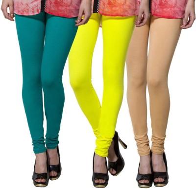 Both11 Women's Green, Yellow, Beige Leggings