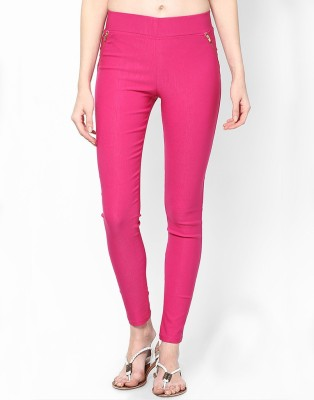 Visach Women's Pink Jeggings