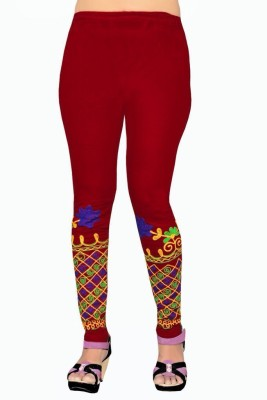 Heena Fashion Women's Red Leggings