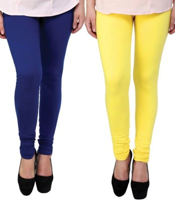 divine creations Women,s Yellow, Blue Leggings