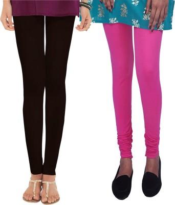 Womens Cottage Women's Black, Pink Leggings