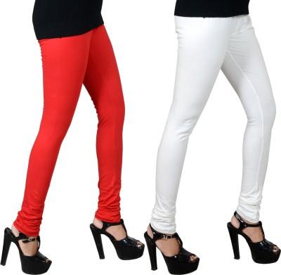 JSA Women's Red, White Leggings