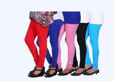 CHIGGY WIGGY Women,s Red, Black, Light Blue, Pink, Blue Leggings