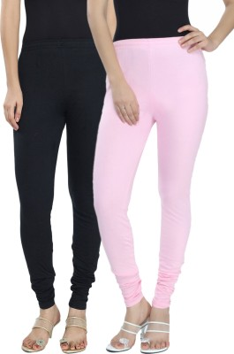 Fexy Women's Black, Pink Leggings