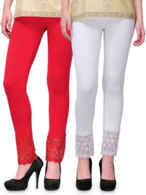 RobinRomeo Women's Red, White Leggings