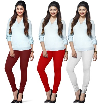 Roshni Creations Women's Maroon, Red, White Leggings
