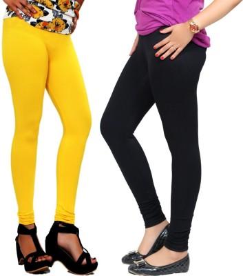 By The Way Women's Yellow, Black Leggings