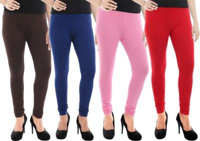 Paulzi Women's Brown, Blue, Pink, Red Leggings