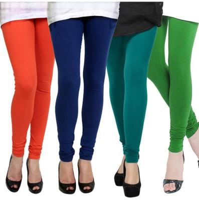 Fashion Zilla Women's Orange, Dark Blue, Blue, Light Green Leggings