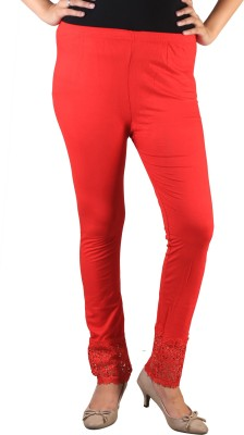 indian street fashion Women's Red Leggings