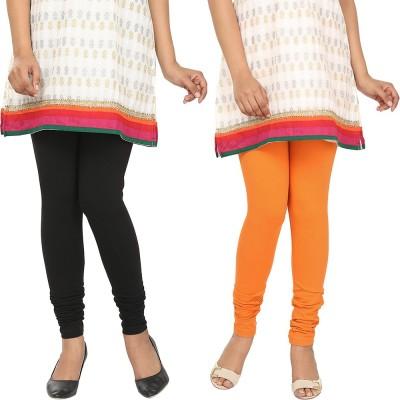 Agrima Fashion Women's Black, Orange Leggings