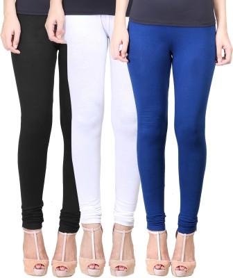 Eshelle Women's Black, White, Dark Blue Leggings