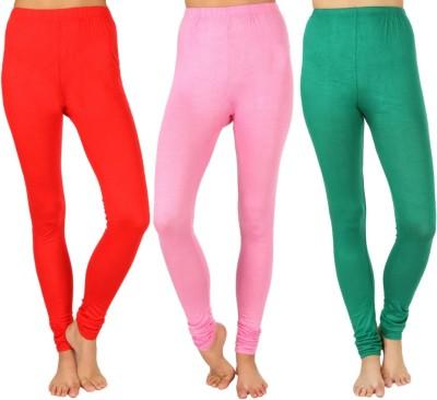 SLS Women's Red, Pink, Green Leggings
