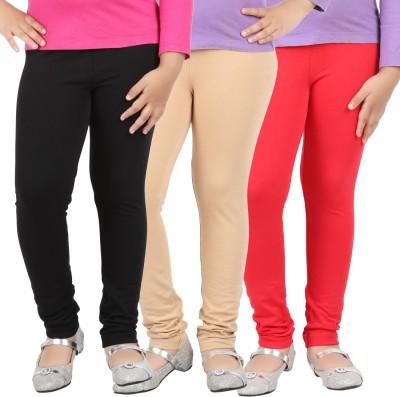 Avarnas Girl's Black, Beige, Red Leggings