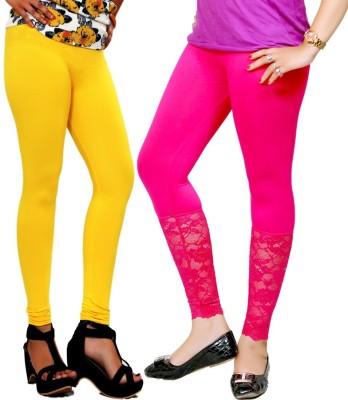By The Way Women's Yellow, Maroon Leggings