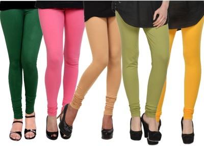 Kjaggs Women's Dark Green, Green, Beige, Pink, Yellow Leggings