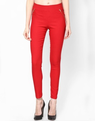 PINK SISLY Women's Red Jeggings