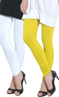 Tulsattva Women's Yellow, White Leggings