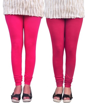 Anubhaviya Women's Pink, Red Leggings