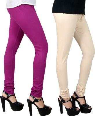 JSA Women's Purple, Beige Leggings