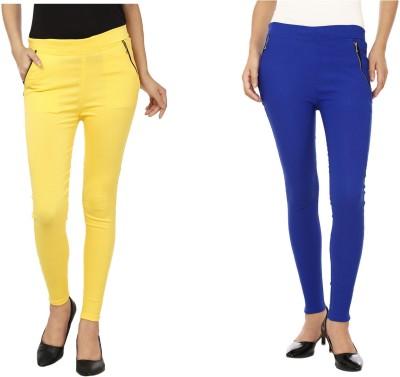 Emblazon Women's Yellow, Blue Jeggings
