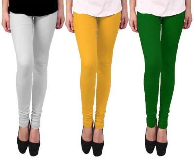 Roma Creation Women's White, Green, Yellow Leggings