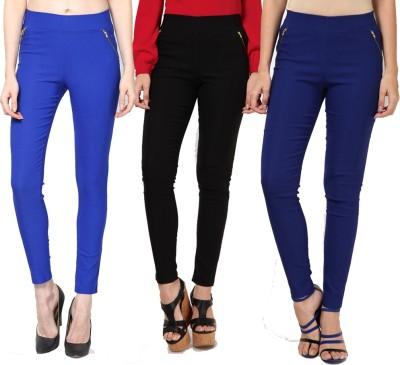 Dharamanjali Women's Blue, Black, Dark Blue Jeggings