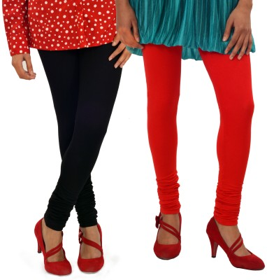 Femninora Women's Black, Red Leggings