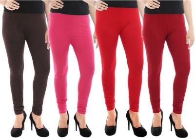 Paulzi Women's Brown, Pink, Red, Maroon Leggings