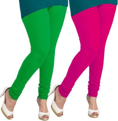 I-Diva Women's Green, Pink Leggings