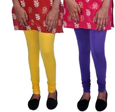 Womens Cottage Women's Purple, Yellow Leggings