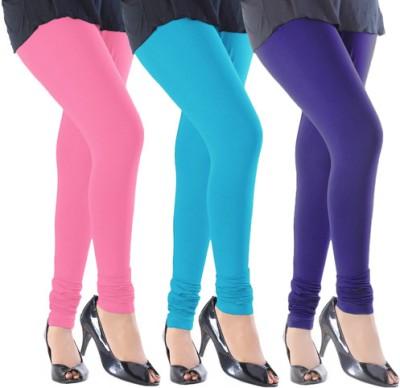 Slassy Women's Pink, Blue, Purple Leggings