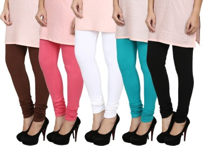 Fizzaro Women's Black, Blue, White, Brown, Pink Leggings