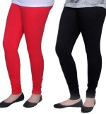 Carrol Women's Red, Black Leggings (Pack...