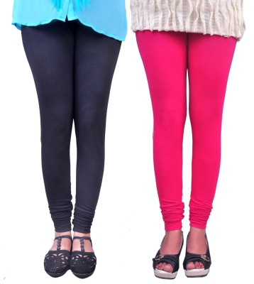 Anubhaviya Women's Black, Pink Leggings
