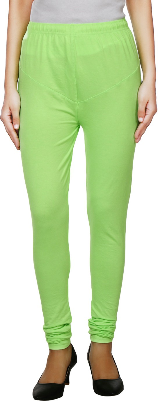 K Fab Womens Light Green Leggings